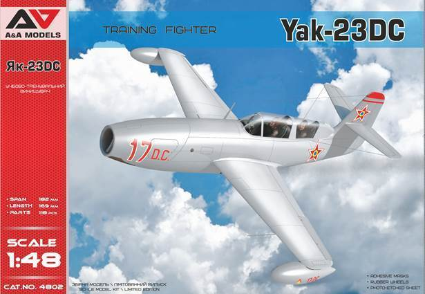 A & A Models 1/48 Yak-23DC Two Seat Training Fighter # 4802