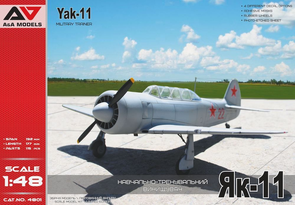 A & A Models 1/48 Yakovlev Yak-11 Military Trainer # 4801