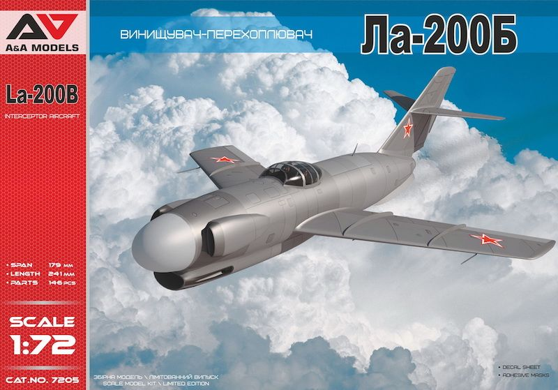 A & A Models 1/72 Lavochkin La-200B Interceptor Aircraft # 7205