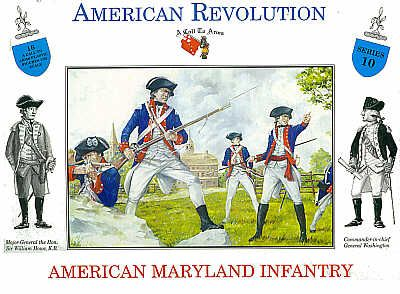 A Call To Arms 1/32 American Revolution American Maryland Infantry # 3210