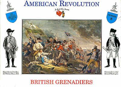 A Call To Arms 1/32 American Revolution British Grenadiers # 3208