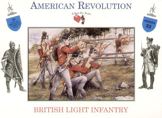 A Call to Arms 1/32 American Revolution British Light Infantry # 3232
