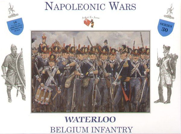 A Call to Arms 1/32 Napoleonic Wars Waterloo Belgian Infantry # 3230