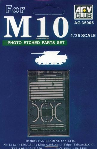 AFV Club 1/35 M10 Photo Etched Parts # AG35006