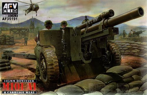 AFV Club 1/35 M101 A1 105mm Howitzer & M2A2 Carriage # 35191