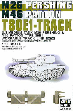 AFV Club 1/35 M26 Pershing and M46 Patton T80E1 Workable Track # 35036