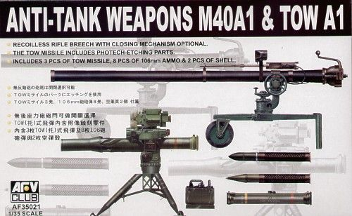 AFV Club 1/35 M40A1 and TOW A1 Anti-tank Weapons # 35021