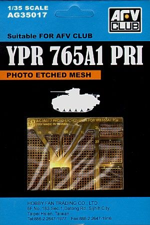 AFV Club 1/35 Mesh for YPR765A1 PRI # AG35017