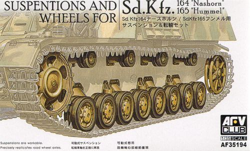 AFV Club 1/35 Suspension and Wheels for Sd.Kfz. 164 Nashorn & Sd