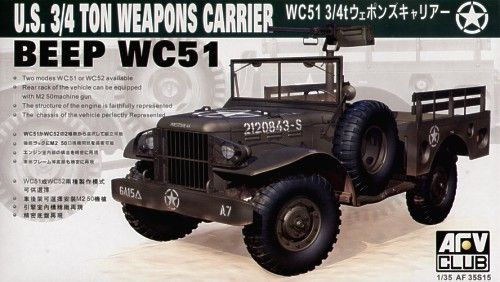 AFV Club 1/35 WC51 3/4 Ton Weapons Carrier # AF35S15