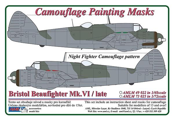 AML 1/48 Bristol Beaufighter Mk.VI / Late - Night Fighter Camouf