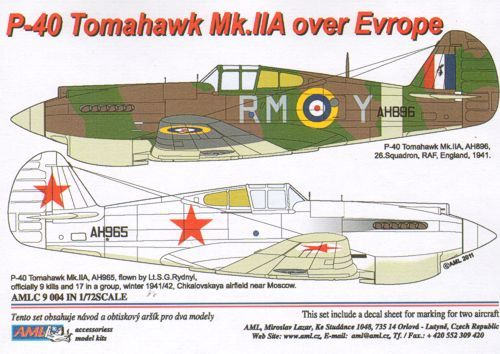 AML 1/72 P-40 Tomahawk Mk. IIA over Europe # C9004