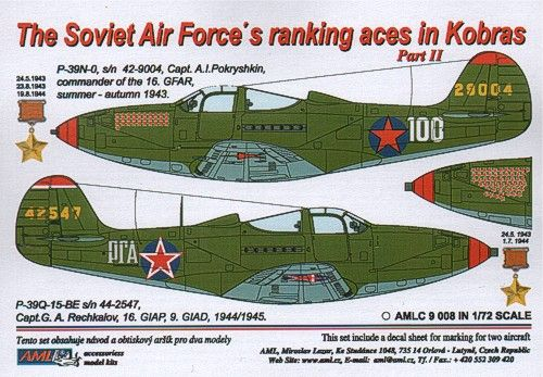 AML 1/72 The Soviet Air Force's Ranking Aces in Kobras Part II #