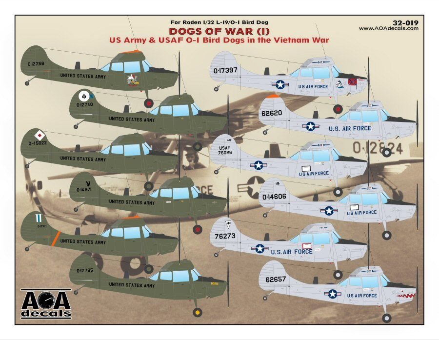 AOA Decals 1/32 Dogs of War (1) # 32019