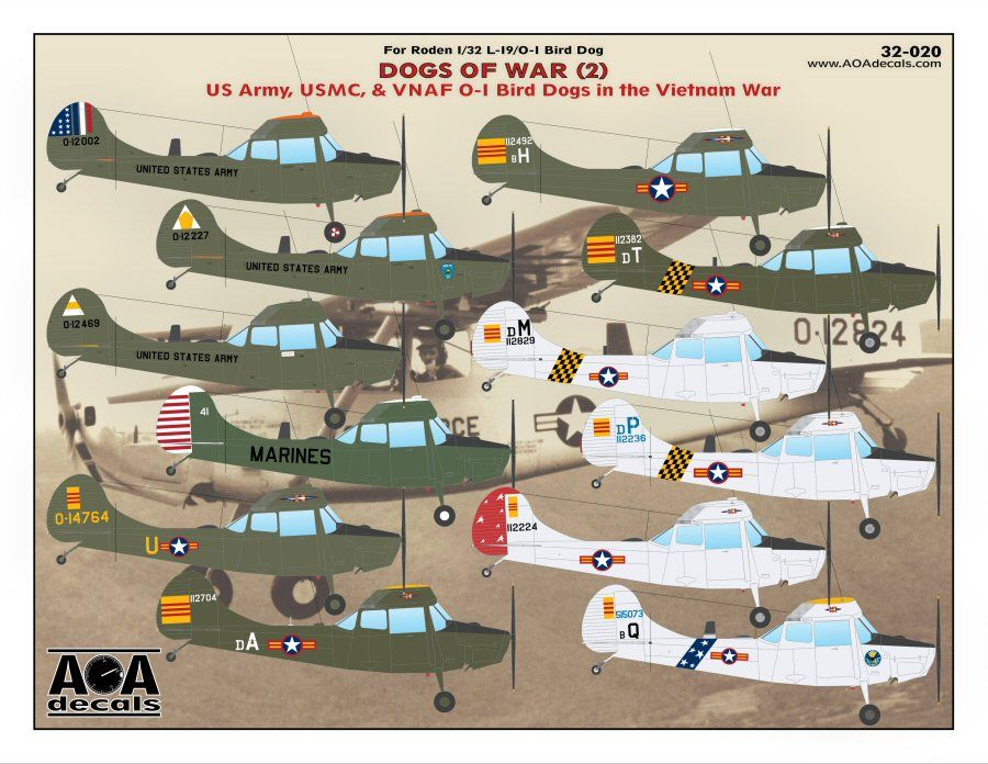 AOA Decals 1/32 Dogs of War (2) # 32020