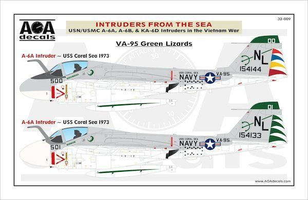 AOA Decals 1/32 Intruders from the Sea # 32009