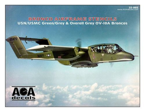AOA Decals 1/32 North-American/Rockwell OV-10A Bronco Airframe Stencils # 32005