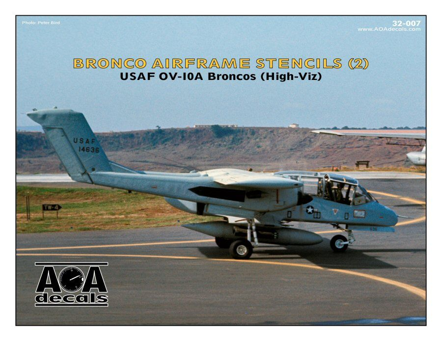 AOA Decals 1/32 North-American/Rockwell OV-10A Broncos Airframe Stencils # 32007