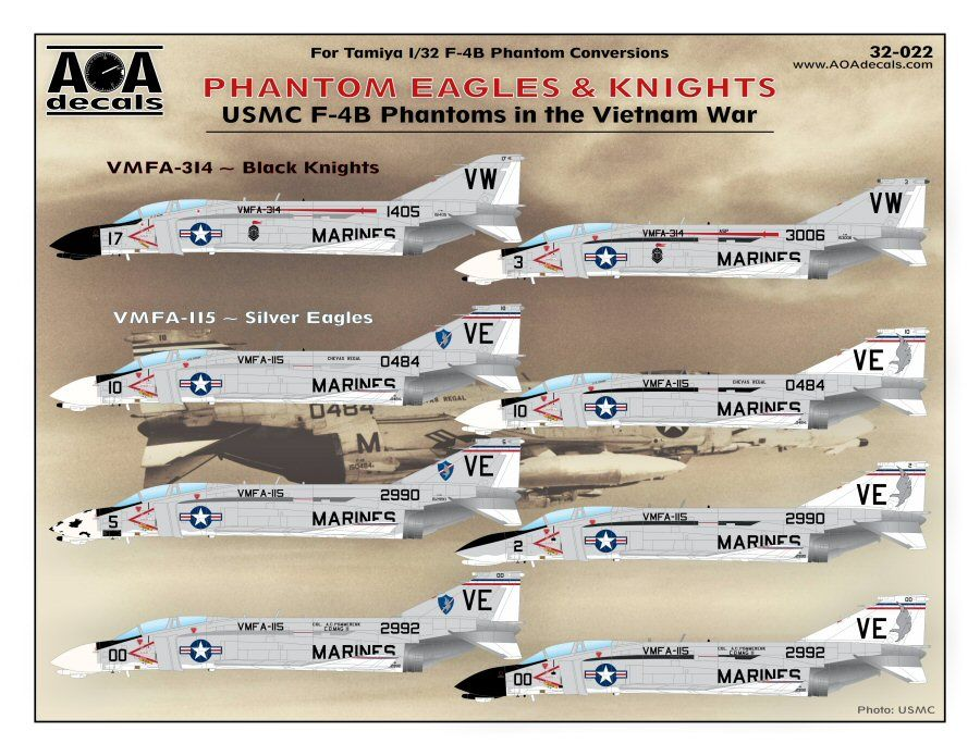 AOA Decals 1/32 Phantom Eagles & Knights # 32022