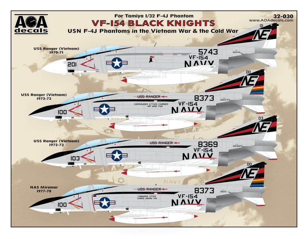 AOA Decals 1/32 VF-154 Black Knights # 32030