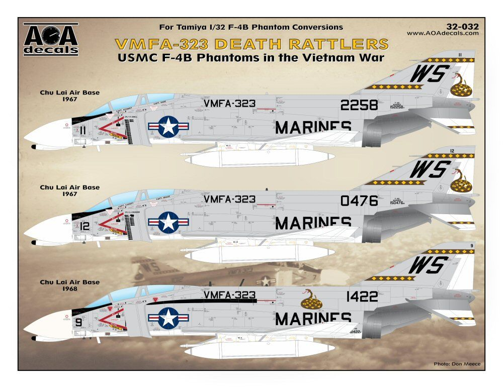 AOA Decals 1/32 VMFA-323 Death Rattlers # 32032