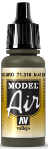 AV Model Air 17ml - N41 Dark Olive Drab # 71316