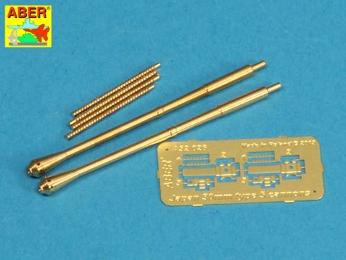 Aber 1/32 Set of 2 Barrels for Japanese 30mm Type 5 Aircraft Machine Cannons # 32026