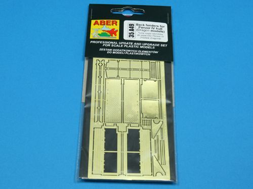 Aber 1/35 Back Fenders for for Pz.Kpfw.IV # 35A49