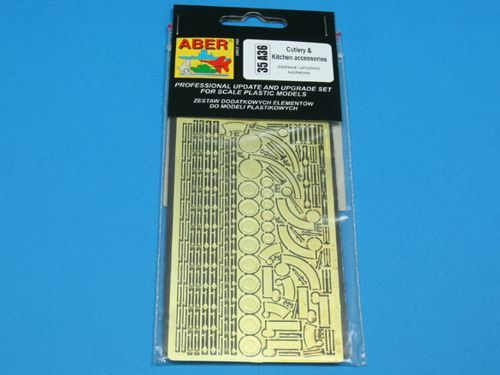 Aber 1/35 Cutlery and Kitchen Accessories Detailing Set # 35A36