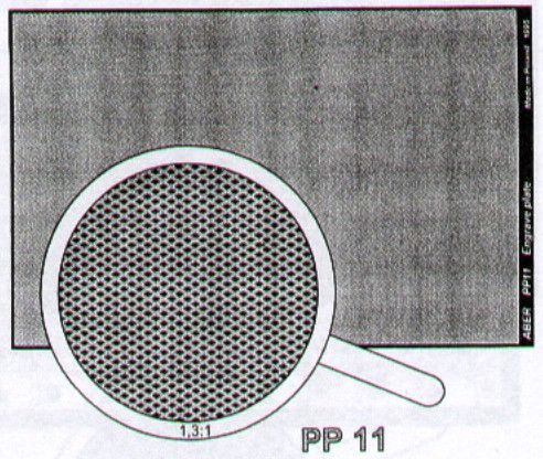 Aber 1/35 Engraved Plate (88mm x 57mm) Pattern 11 # PP11
