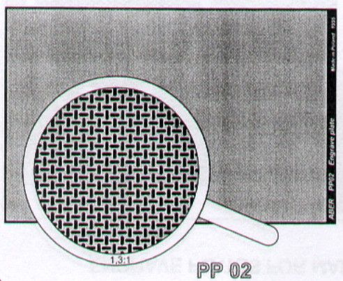 Aber 1/35 Engraved Plate (88mm x 57mm) Pattern 2 # PP02