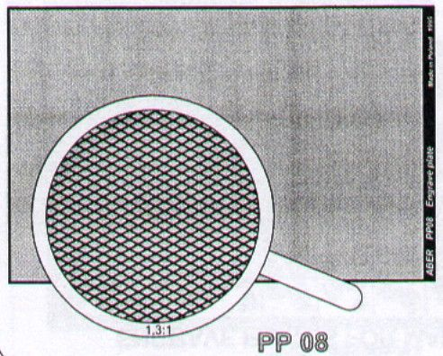 Aber 1/35 Engraved Plate (88mm x 57mm) Pattern 8 # PP08