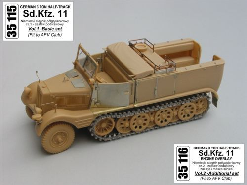 Aber 1/35 German Sd.Kfz.11 3ton Half-Track Vol.1 Basic Detailing Set # 35115