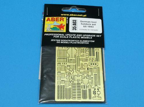 Aber 1/35 German Tool Holders to 1943 Detailing Set # 35A03