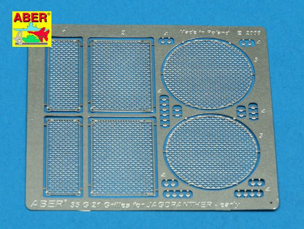Aber 1/35 Grilles for Jagdpanther Ausf.G1 Early Detailing Set # 35G21