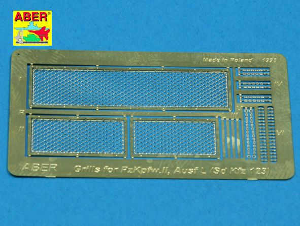 Aber 1/35 Grilles for Pz.Kpfw.II 'Luchs' German Sd.Kfz.123 Detailing Set # 35G09
