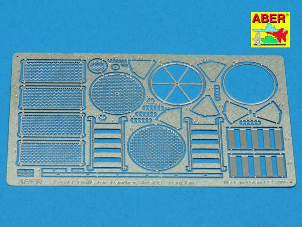 Aber 1/35 Grilles for Pz.Kpfw.V Panther Ausf.G Late Model Sd.Kfz.171 TA Detailing Set # 35G14