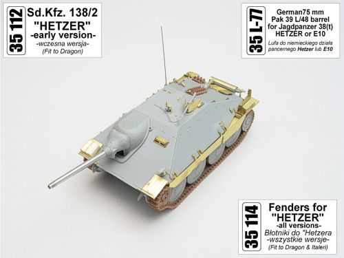 "Aber 1/35 Sd.Kfz.138/2 ""Hetzer"" Early Version Detailing Set # 35112"