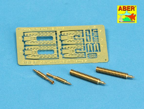 Aber 1/35 Set of 2 Barrels for Machine Guns ZB 37. used on Panzer 35 & 38(t) Tanks # 35L101