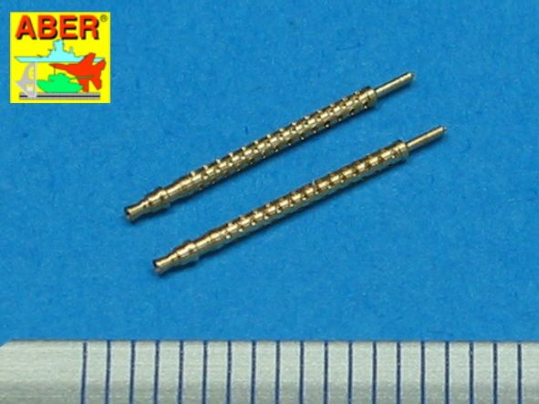 Aber 1/48 Set of 2 Barrels for German 7,92mm MG.17 Aircraft Machine Guns # A48002