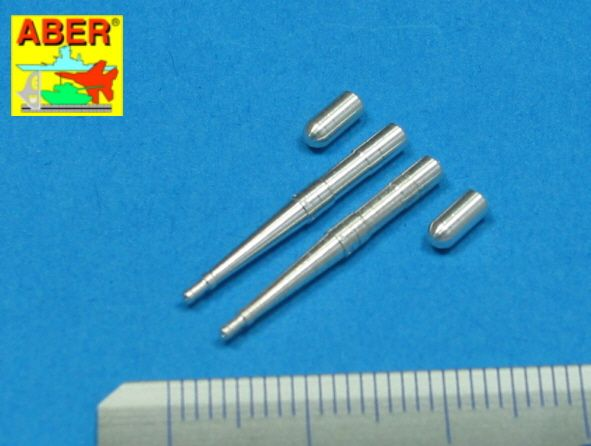 Aber 1/48 Set of 2 Barrels for Hispano 20mm Machine Cannons for Spitfire C Wing # A48022