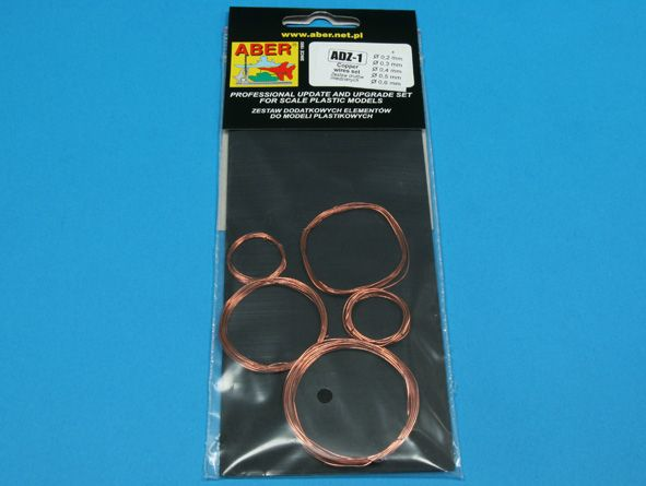 Aber - Wires Set (Diameter: 0,2; 0,3; 0,4; 0,5; 0,6mm x Length: 1m each) # ADZ-1