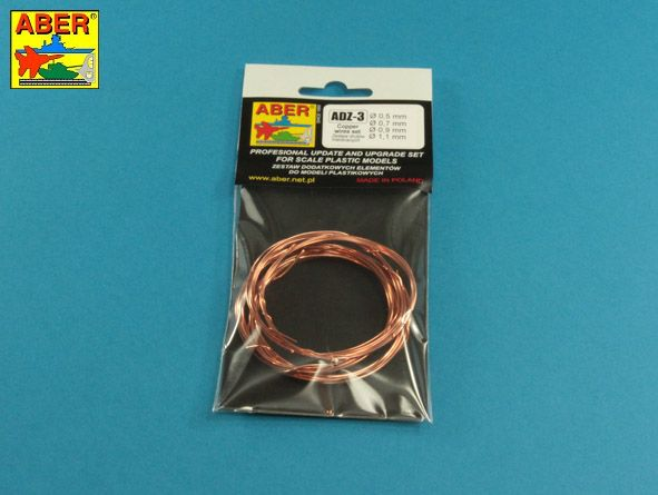 Aber - Wires Set (Diameter: 0,5; 0,7; 0,9; 1,1mm x Length: 1m each) # ADZ-3