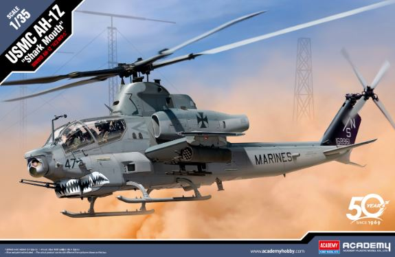"Academy 1/35 Bell AH-1Z ""Shark Mouth"" USMC # 12127"