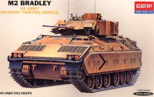 Academy 1/35 M2 Bradley U.S. Army Infantry Fighting Vehicle # 13237