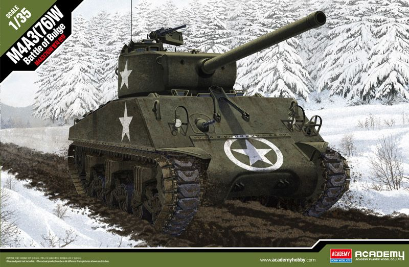 "Academy 1/35 M4A3(76)W Sherman ""Battle of the Bulge"" # 13500"