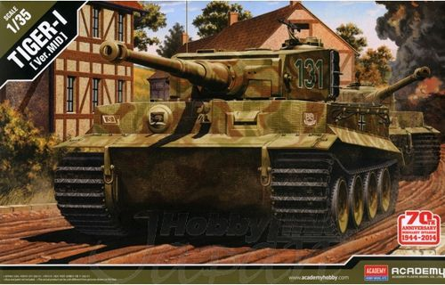 Academy 1/35 Pz.Kpfw.VI Tiger1 Mid Version 70th Anniversary Normandy Invasion # 13287