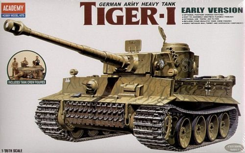 Academy 1/35 Tiger I Early Version German Army Heavy Tank # 13264