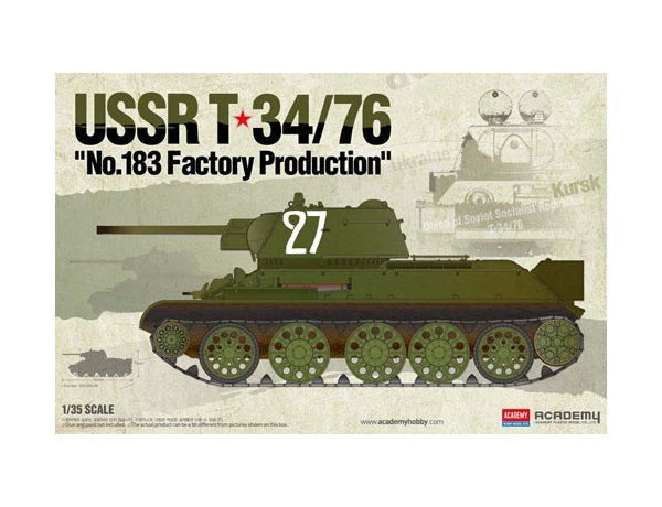 "Academy 1/35 USSR T-34/76 ""No.183 Factory Production"" # 13505"