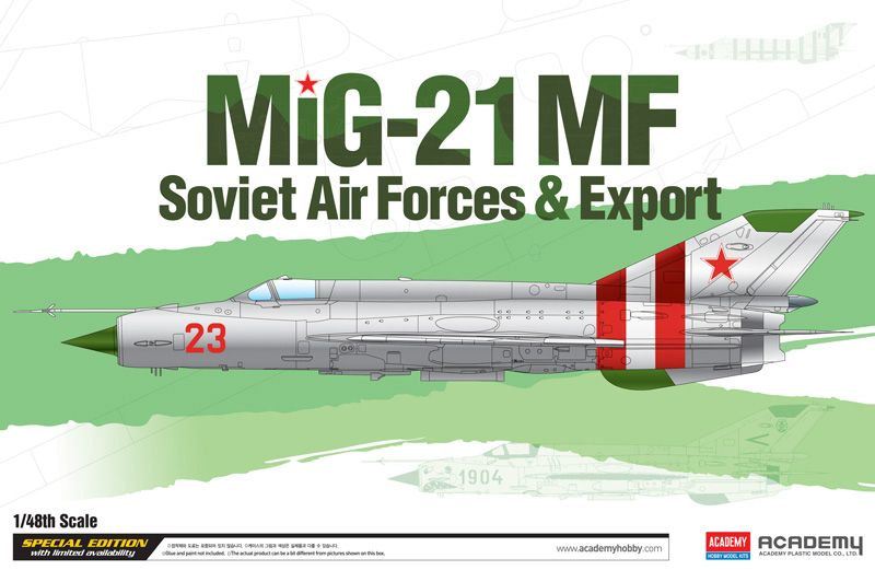 "Academy 1/48 Mikoyan MiG-21MF ""Soviet Air Forces & Export"" # 12311"